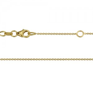 14kt Yellow Gold .9mm Cable Link Chain