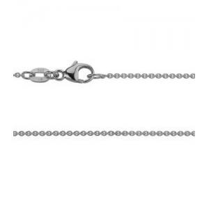 14kt White Gold 1.2mm Cable Link Chain