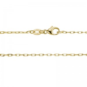 14kt Yellow Gold 1.3mm Diamond Cut Oval Link Chain