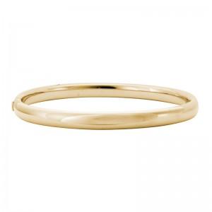 14kt Yellow Gold 6mm Bangle Bracelet.