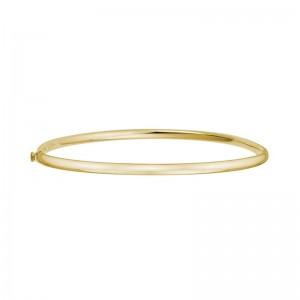 14kt Yellow Gold 3.25mm Bangle Bracelet.