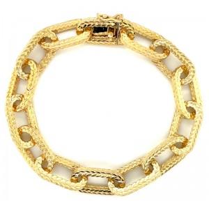 Estate 18kt Yellow Gold Wheat Link Bracelet