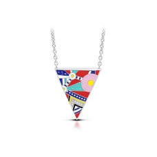 """Belle Etoile Sterling Silver And Enamel """"Nairobi"""" Necklace"""