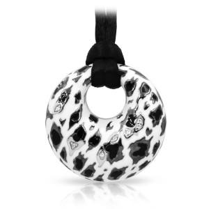 "Belle Etoile Sterling Silver And Enamel ""Leopard"" Pendant"