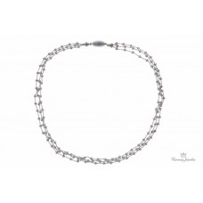 Peter Storm Tessuto Colori Sterling Silver Luna Necklace