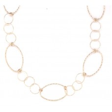 """Peter Storm """"Tessuto Colori"""" Yellow Gold Finish Sterling Silver Open Twist And Tinsel Link 36"""" Necklace"""