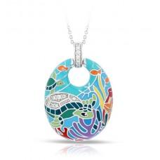 "Belle Etoile Sterling Silver And Enamel ""Sea Turtle"" Pendant"