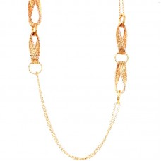 """Peter Storm """"Tessuto Colori"""" Yellow And Rose Gold Finish Sterling Silver Ribbon Station Necklace"""