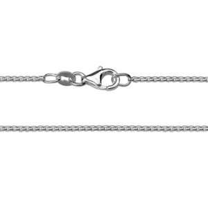 Sterling Silver 1mm Rounded Box Chain
