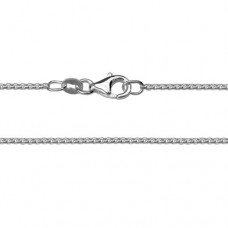 """Sterling Silver 18""""  Rounded Box Chain"""