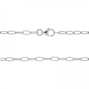 """Sterling Silver 20"""" 2.2mm Oval Cable Chain"""