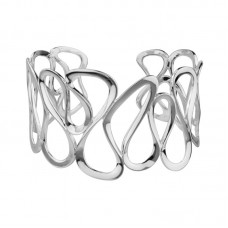 "Sterling Silver ""Ribbon"" Cuff Bracelet"