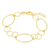 """Peter Storm """"Tessuto Colori"""" Yellow Gold Finish Sterling Silver Open Twist And Tinsel Link Bracelet"""
