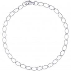Sterling Silver Oval Link Charm Bracelet