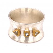 """Lika Behar Sterling Silver And Diamond Wide """"Aurora"""" Ring"""