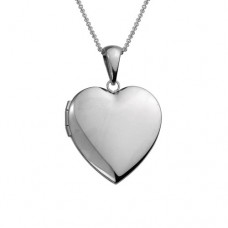 Sterling Silver 19mm Polished Heart Locket