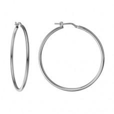 Sterling Silver Extra-large Hoop Earrings