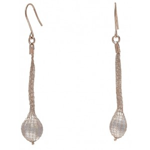 """Peter Storm """"Tessuto Colori""""  Rose Gold Plated Sterling Silver And Quartz Dangle Earrings"""