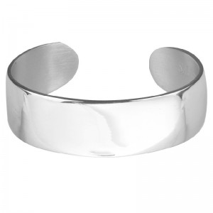 "Pewter 3/4"" Plain Cuff Bracelet"