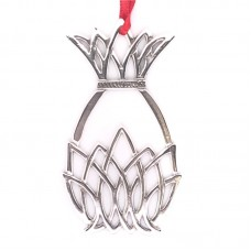 """Sterling Silver """"Pineapple""""  Holiday Ornament"""