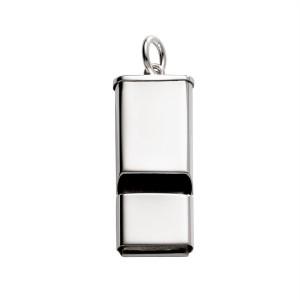 Sterling Silver Rectangular Whistle