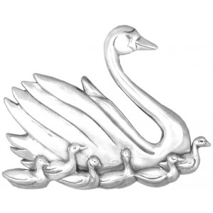 """Sterling Silver """"Seven Swans A-Swimming""""  Holiday Ornament"""