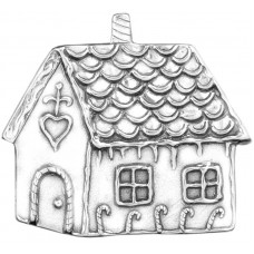 """Sterling Silver """"Gingerbread House""""  Holiday Ornament"""