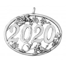 Sterling Silver 2020 Annual Birds Holiday Ornament