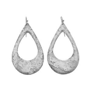"Evocateur ""Athena"" Silver Leaf Teardrop Dangle Earrings"