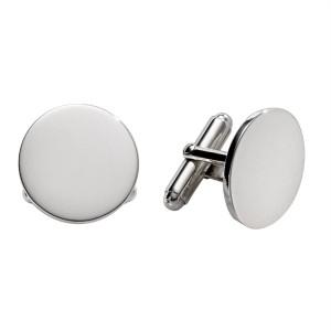 """Sterling Silver 3/4"""" Round Cufflinks"""