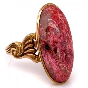 Estate 14kt Yellow Gold Rhodocrosite Ring